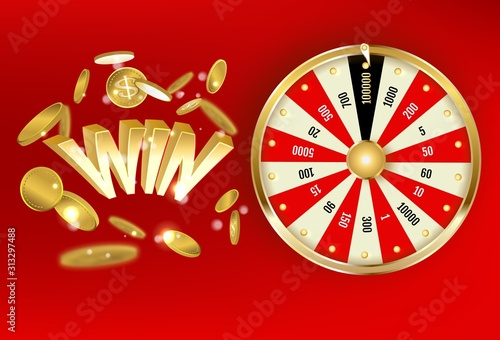 Fotografia The object of the lottery Wheel of Fortune