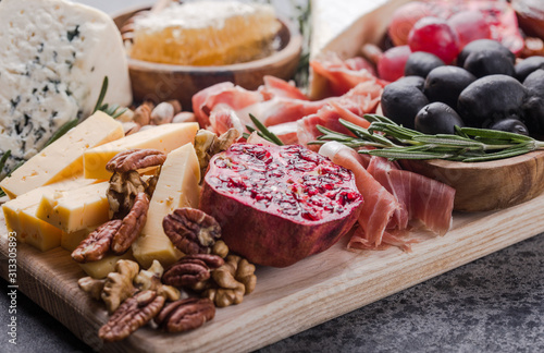 Traditional italian antipasto plate Canvas Print