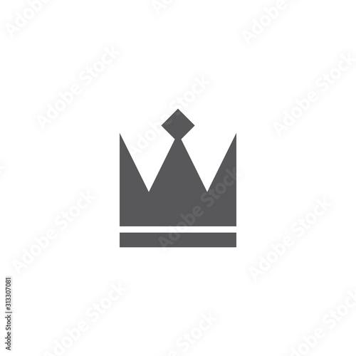 Crown Logo Template vector icon Canvas Print