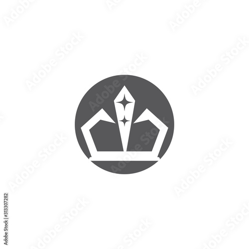 Crown Logo Template vector icon Wallpaper Mural