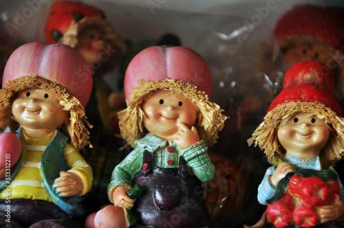Fototapeta Thai wooden dolls