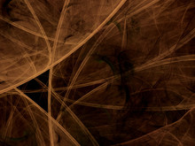 Brown Abstract Fractal Backgro...