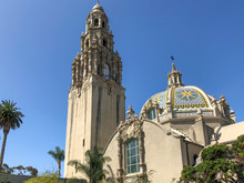 San Diego's Balboa Park Bell Tower In San Diego, California, USA. August, 22nd, 2019