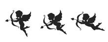 Cute Cupid Icon Set. Love, Wed...