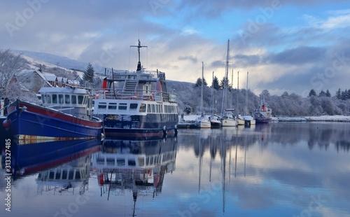caledonian canal Scotland Tablou Canvas