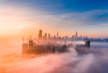 Chicago Foggy Sunrise