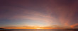 canvas print picture - Partly Cloudy Sunset 06