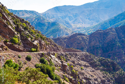 View of the Atlas mountains landscape, Morocco, North Africa.
