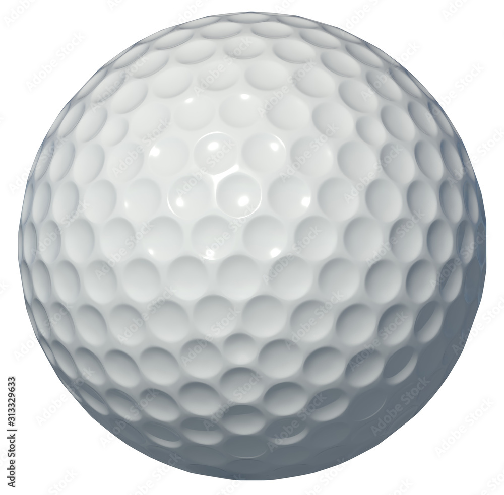 Fototapeta Golf ball isolated on white background 3d rendering