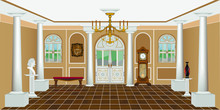 Vintage Living Room Interior W...
