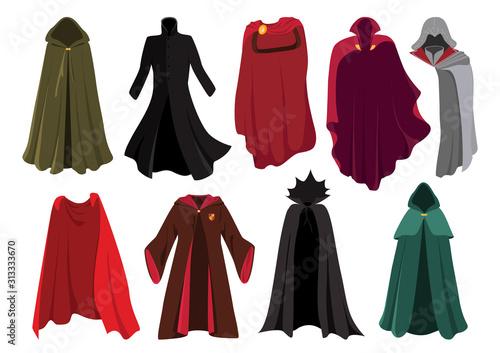 Vector set of cloaks Fototapeta