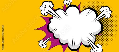 obłoczna wybuchu pop-artu stylu ikony wektorowy ilustracyjny projekt