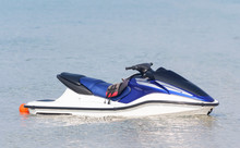 Jet Ski Moored On Water Close Up