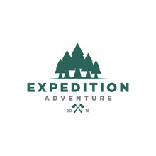 Hunter Camping Expedition Logo Icon Vector Template