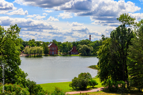 Photo Admiralty on a bank of Big Pond in Catherine park at Tsarskoye Selo in Pushkin,