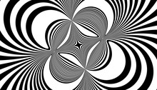 Abstract Symmetrical Black Lin...