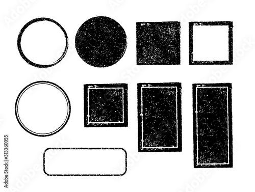 rubber stamp frame set (square, circle, rectangle etc Canvas Print