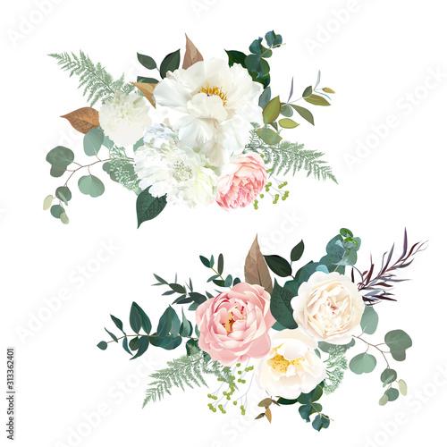 Fototapeta Retro delicate vector design flower bouquets
