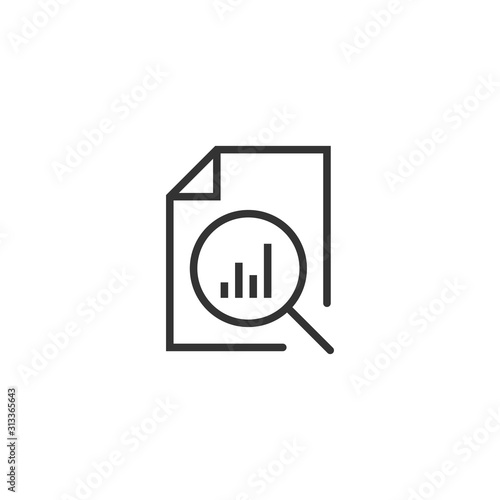 Photo Financial statement icon in flat style
