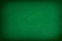 Dark Green Matte Background Of Suede Fabric, Closeup. Texture Of Seamless Emerald Woolen Felt
