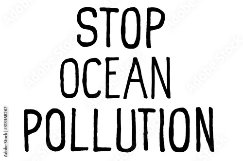 Fotomural Stop ocean pollution