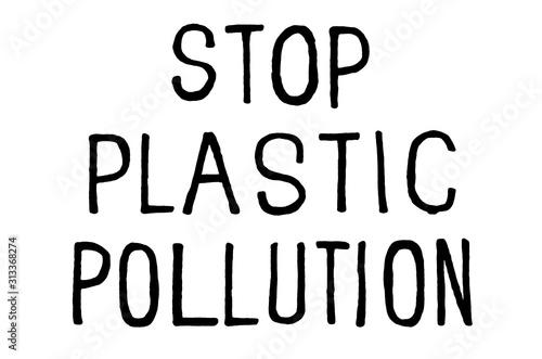 Stop plastic pollution Wallpaper Mural