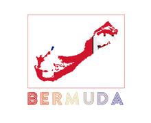 Bermuda Logo. Map Of Bermuda W...