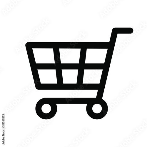 Leinwand Poster shopping cart icon