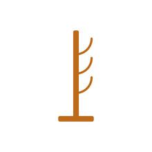 Wooden Coat Rack Isolated Icon
