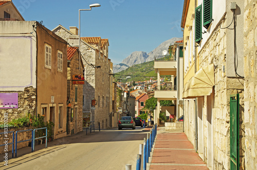 Fototapeta Ulice miasta Makarska w Chorwacji obraz