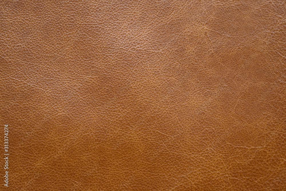 Fototapeta Brown leather texture . background