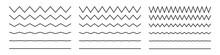 Wave Line And Wavy Zigzag Patt...