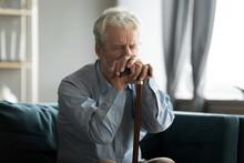 Depressed Disabled Retired Man...