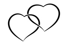 Two Hearts As One. Simple Doodle