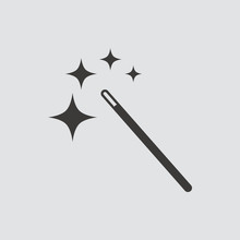 Magic Wand Icon Isolated Of Fl...