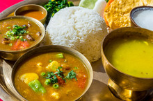 Typical Nepalese Food, The Thakali Thali