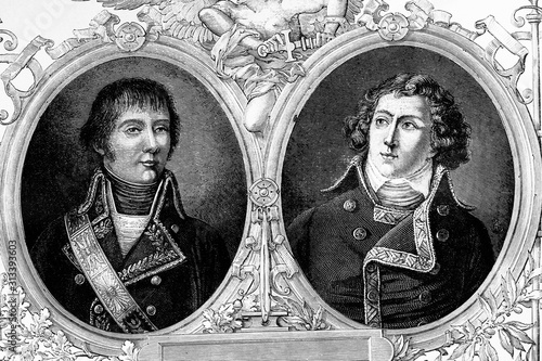 Anthony William Rampon, general of division, and Louis Alexander Berthier, Marshal Wallpaper Mural