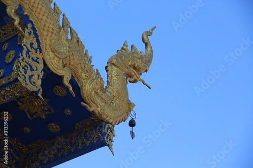 Obraz Thailand temple decoration of Thai style dragon so call Naga or Nagi - fototapety do salonu