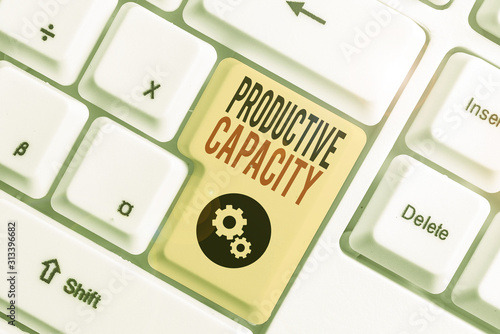 Writing note showing Productive Capacity Wallpaper Mural