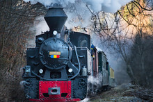 Steam Train Puffing Along The ...