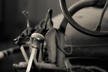 Closeup Of Antique Farm Tractor