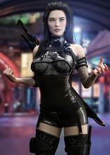 Futuristic Sci Fi Female Ninja...