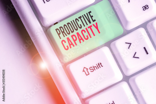 Conceptual hand writing showing Productive Capacity Canvas Print