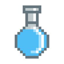 Pixel Potion Bottle On White B...