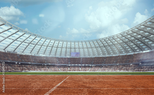 Fototapety, obrazy:  3-D athletics stadium. Render 3-d.