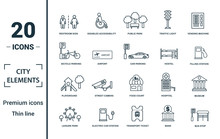 City Elements Icon Set. Includ...