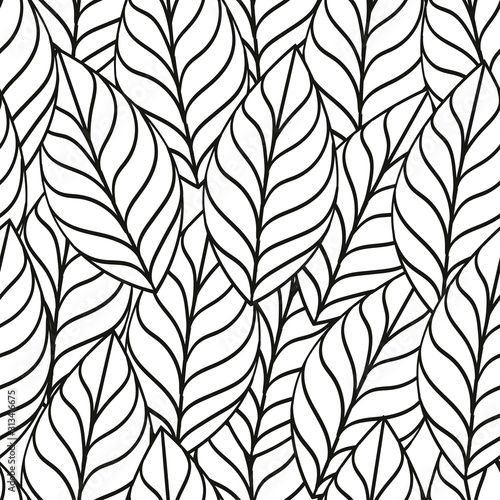 coloring-book-and-leaf-seamless-pattern-vector-illustration-use-for-paper-textile-or-application