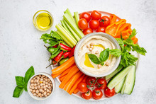 Hummus Platter With Assorted S...