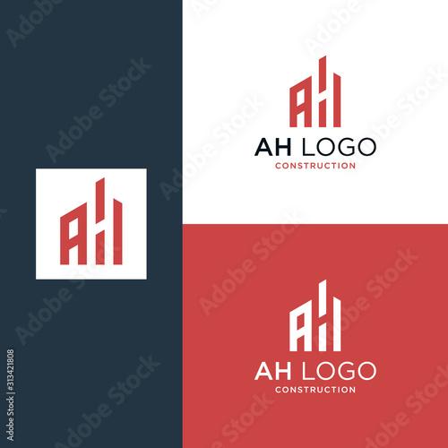 Rounded Initials Monogram Ah Logo Design Buy This Stock Vector And Explore Similar Vectors At Adobe Stock Adobe Stock