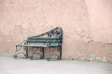 An Empty Chair On The Roadside In Marrakesh City